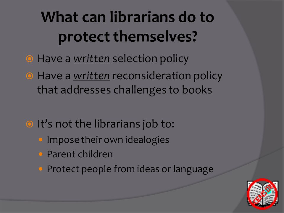 What can librarians do to protect themselves.
