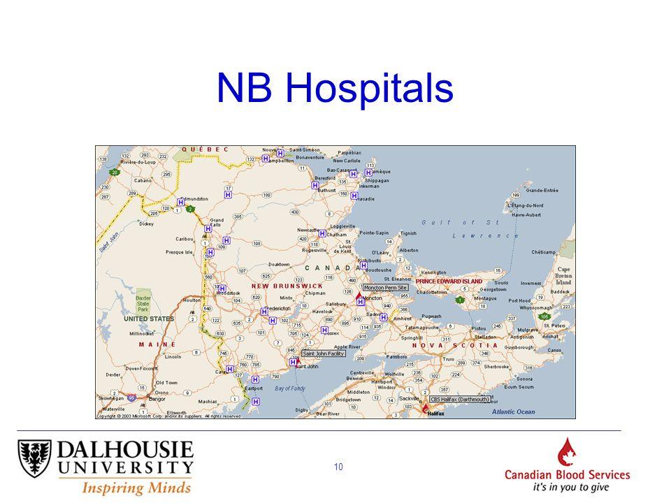 10 NB Hospitals