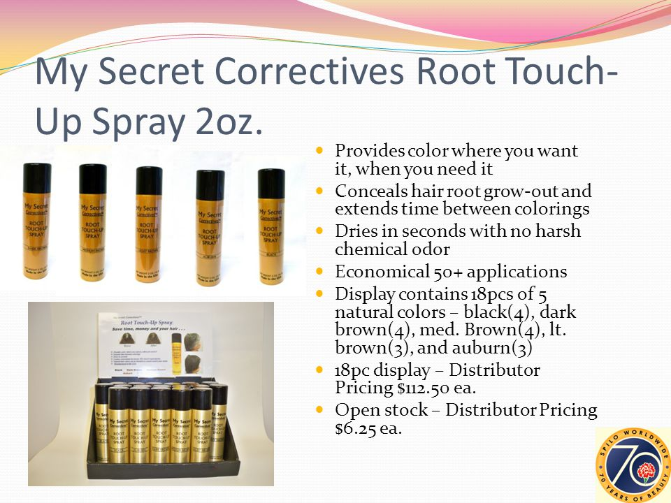 My Secret Correctives Root Touch- Up Spray 2oz.