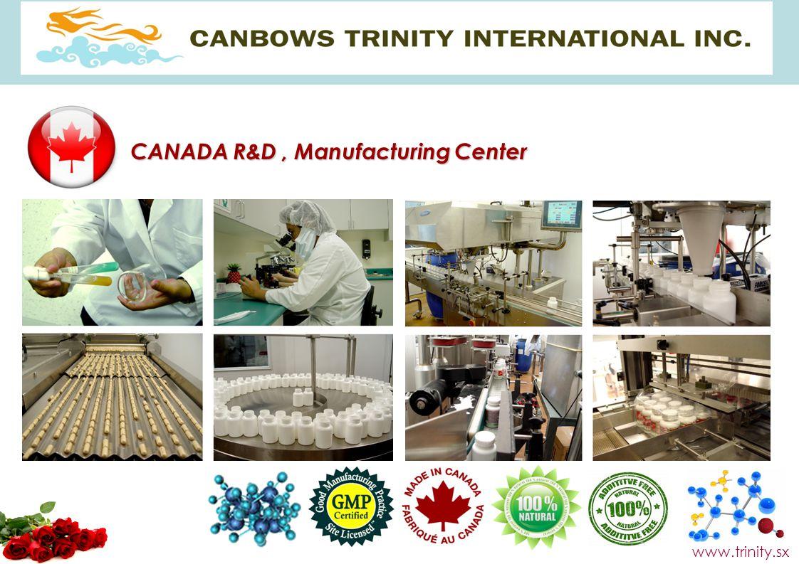 CANADA R&D, Manufacturing Center www.trinity.sx