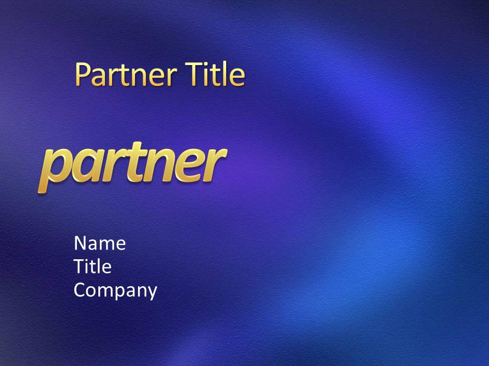 Name Title Company