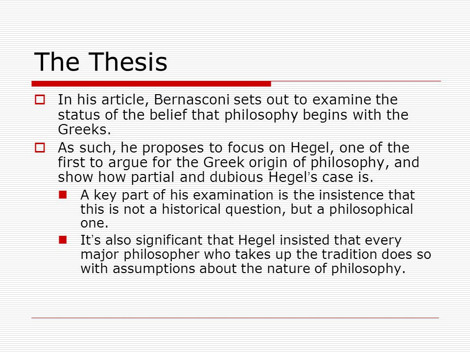 Lectures on the History of Philosophy  Bernasconi spends most of his time focusing on Hegel ' s Lectures on the History of Philosophy.