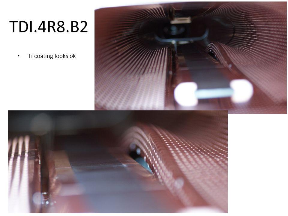 TDI.4R8.B2 Ti coating looks ok
