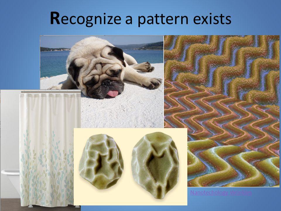 R ecognize a pattern exists Nanotechology Wrinkles