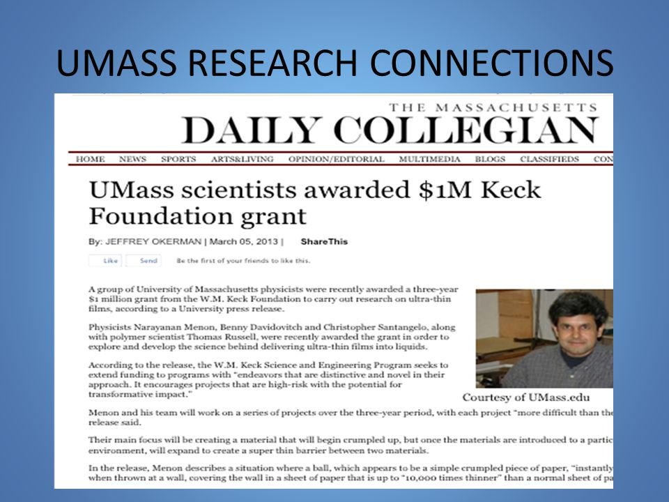 UMASS RESEARCH CONNECTIONS