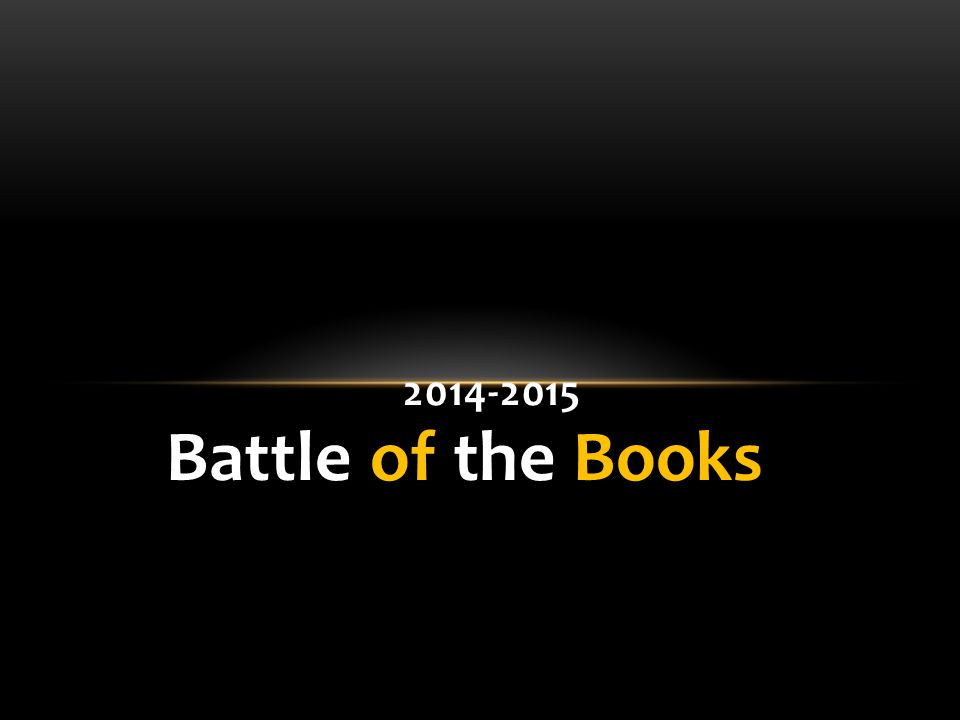 Battle of the Books 2014-2015
