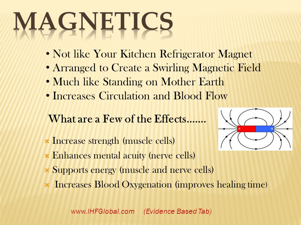Not like Your Kitchen Refrigerator Magnet Arranged to Create a Swirling Magnetic Field Much like Standing on Mother Earth Increases Circulation and Bl