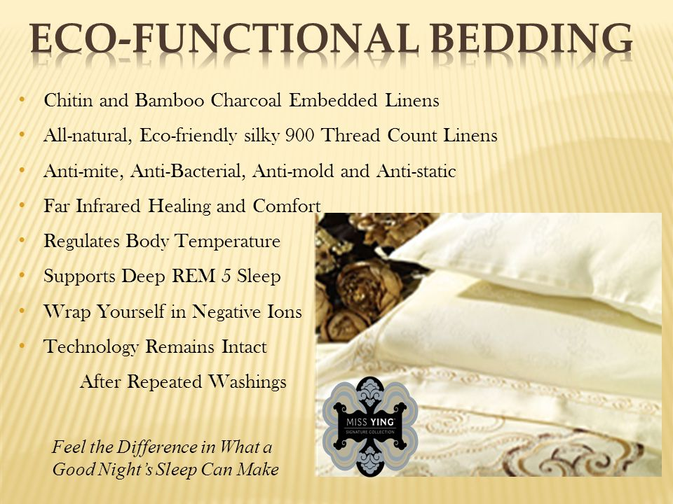 Chitin and Bamboo Charcoal Embedded Linens All-natural, Eco-friendly silky 900 Thread Count Linens Anti-mite, Anti-Bacterial, Anti-mold and Anti-stati