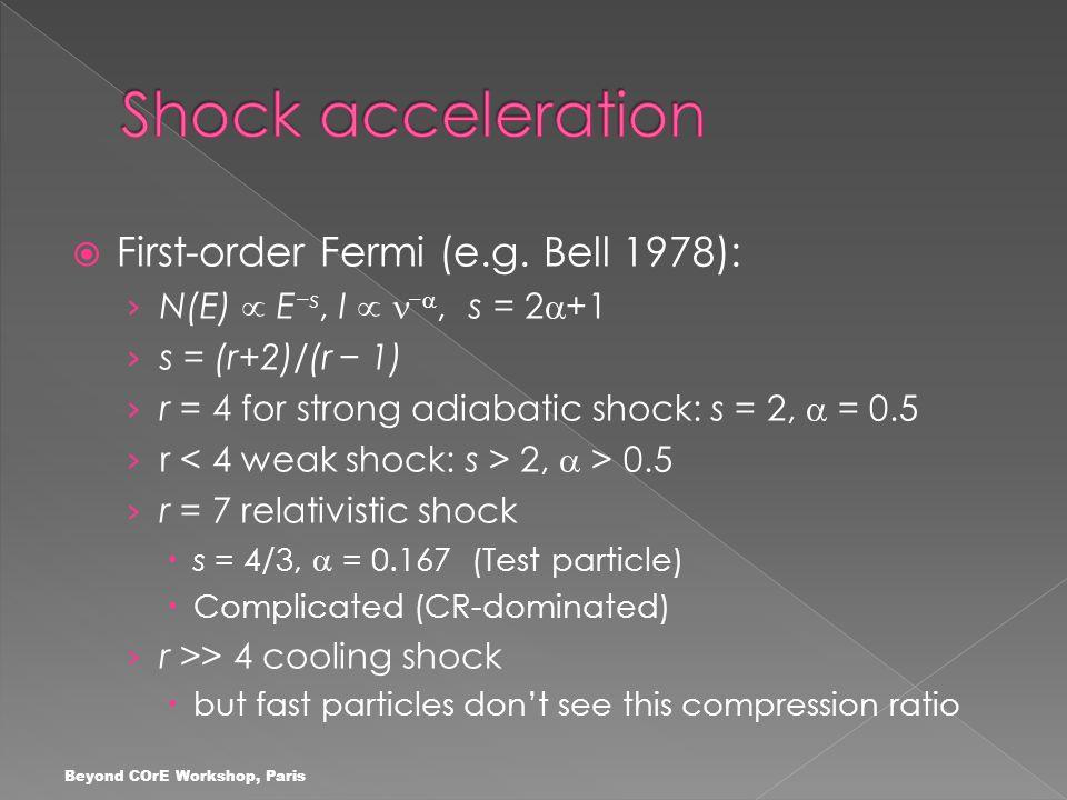  First-order Fermi (e.g.