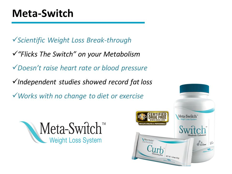 """Scientific Weight Loss Break-through """"Flicks The Switch"""" on your Metabolism Doesn't raise heart rate or blood pressure Independent studies showed reco"""