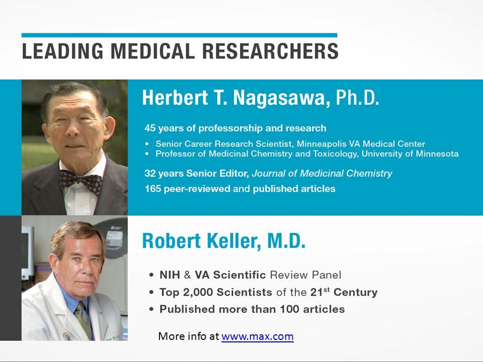 More info at www.max.comwww.max.com