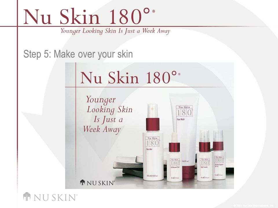 © 2001 Nu Skin International, Inc Step 5: Make over your skin