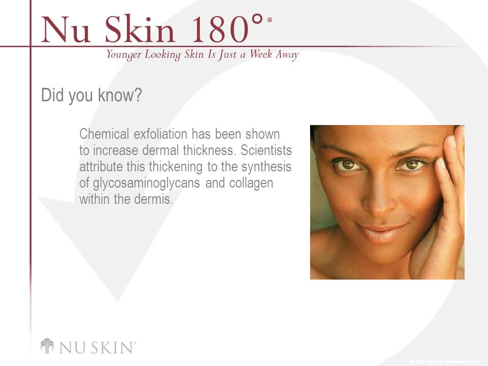 © 2001 Nu Skin International, Inc Did you know.