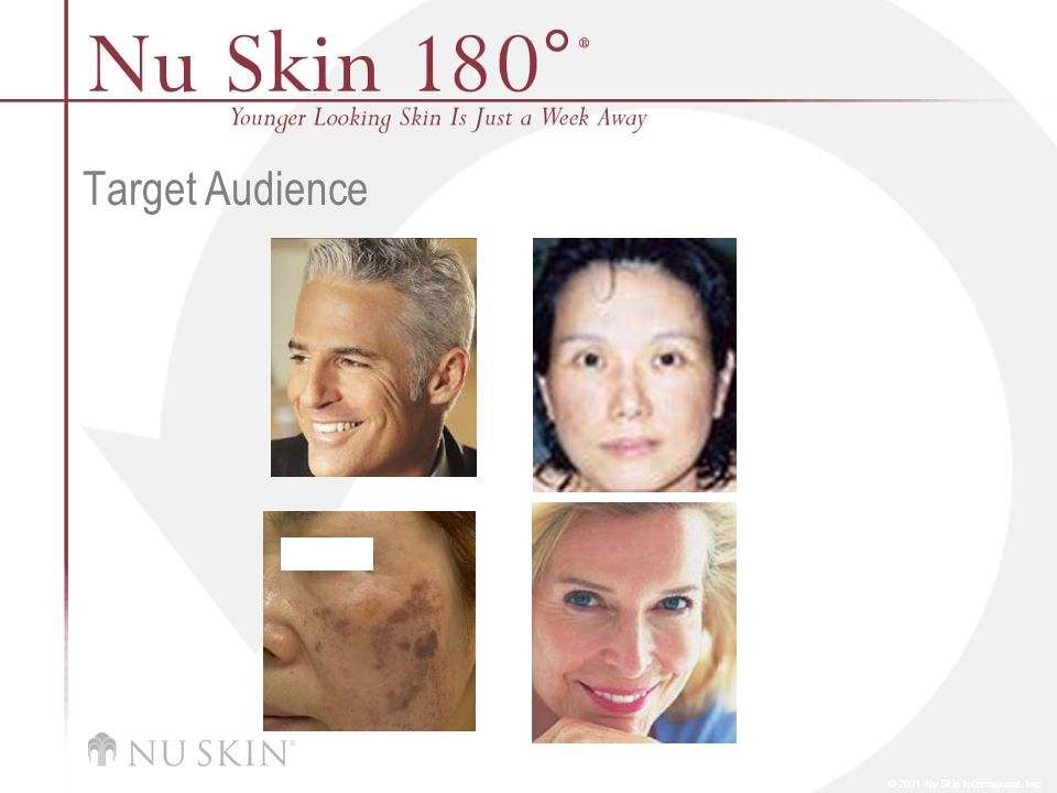 © 2001 Nu Skin International, Inc Target Audience