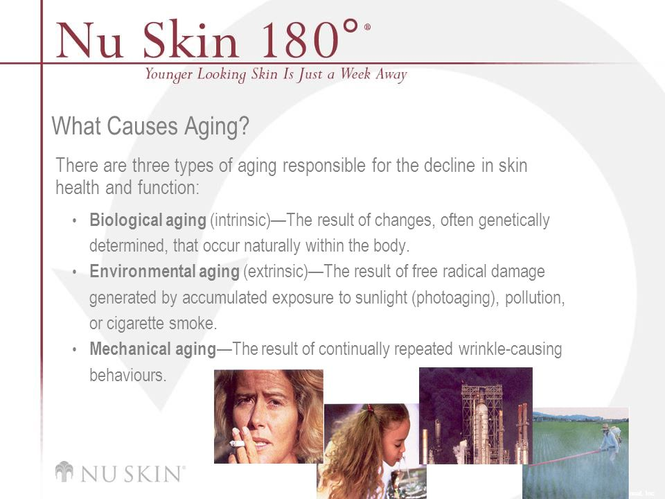 © 2001 Nu Skin International, Inc What Causes Aging.