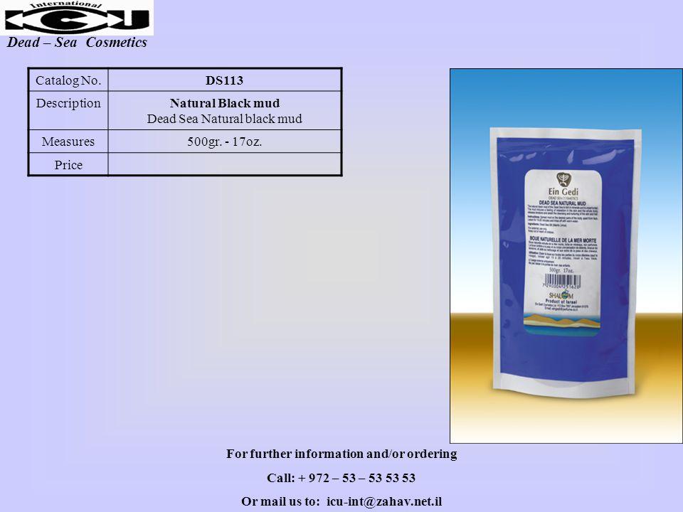 Dead – Sea Cosmetics DS113Catalog No.