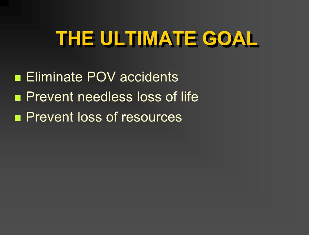 PREVENTION OF POV ACCIDENTS Training Briefings and promotional materials Correction of offenses Counseling UCMJ action