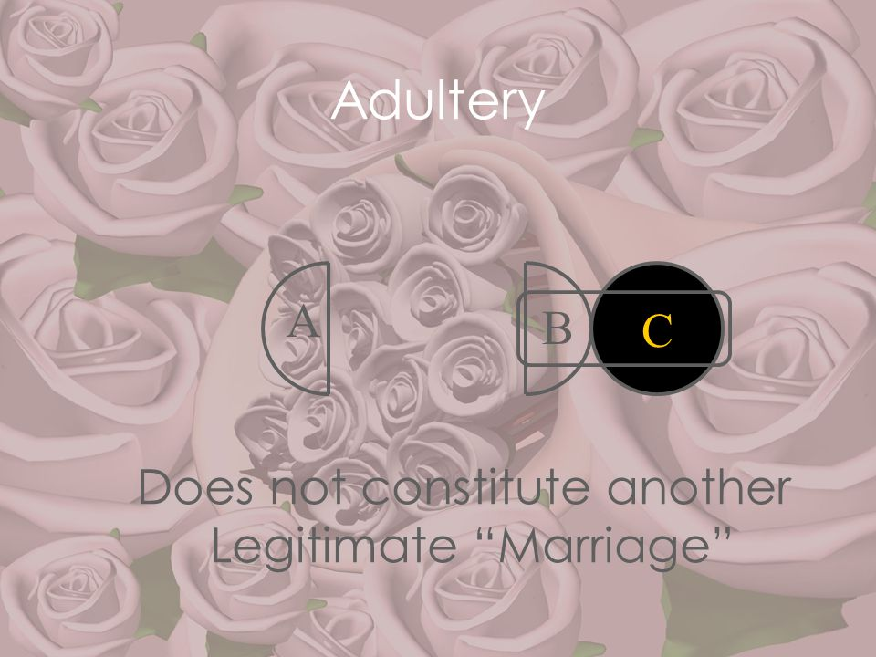 """Adultery A B Does not constitute another Legitimate """"Marriage"""" C"""