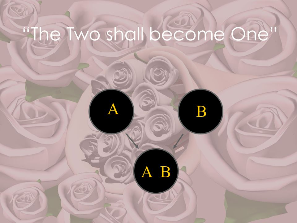 """""""The Two shall become One"""" A B A B"""