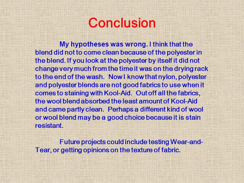 Conclusion My hypotheses was wrong.