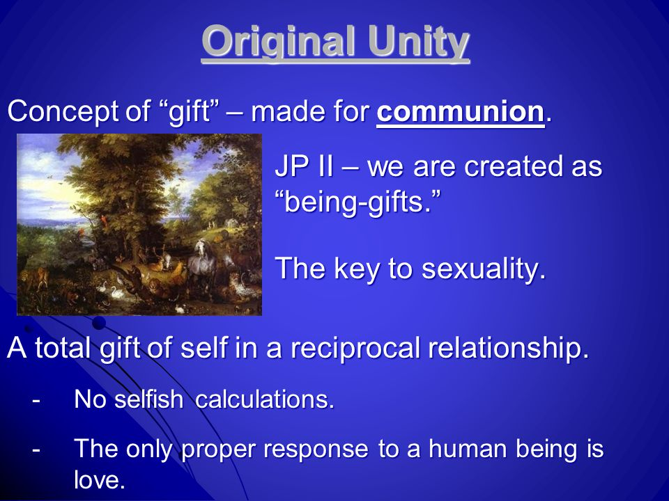 Original Unity Concept of gift – made for communion.