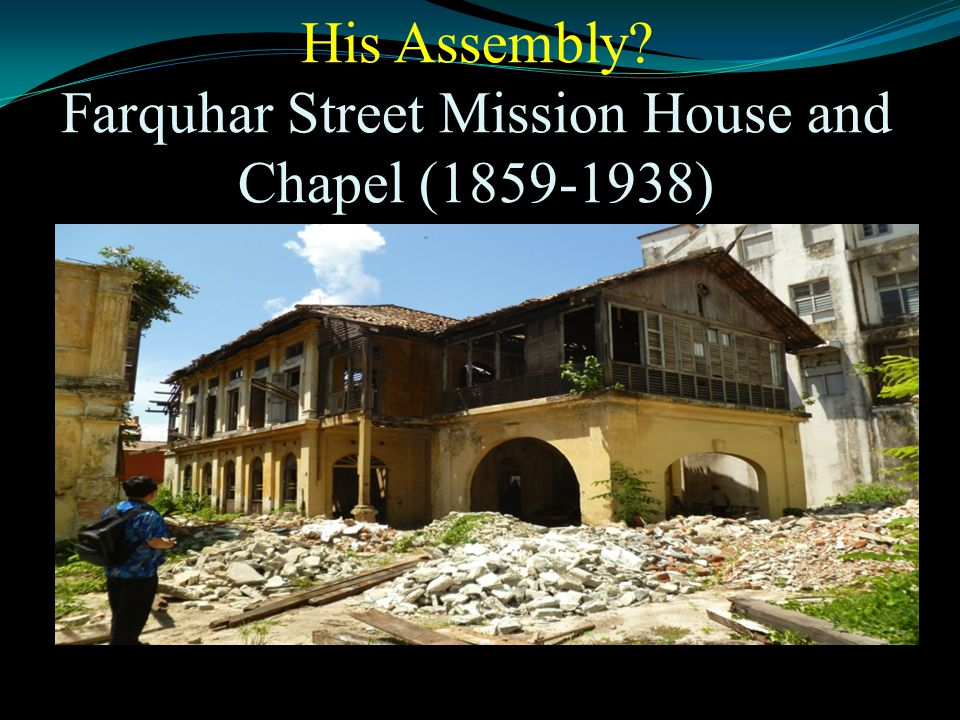 His Assembly? Farquhar Street Mission House and Chapel (1859-1938)