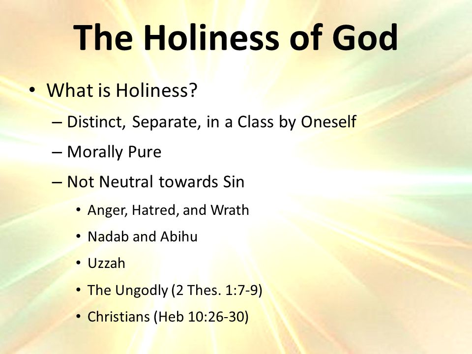 What is Holiness.