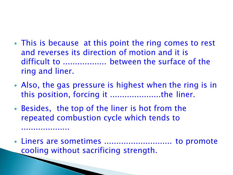 This is because at this point the ring comes to rest and reverses its direction of motion and it is difficult to..................