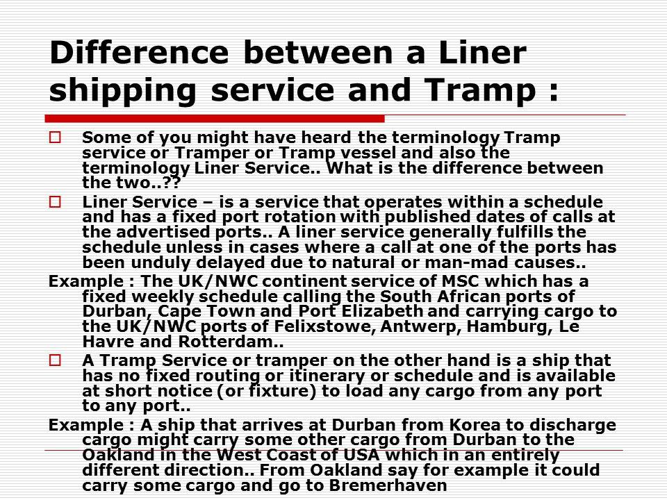 World Seaborne Trade and World Shipping,
