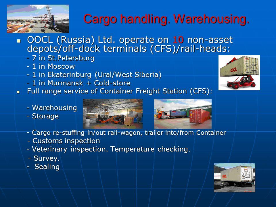 Cargo handling.Warehousing. Cargo handling. Warehousing.
