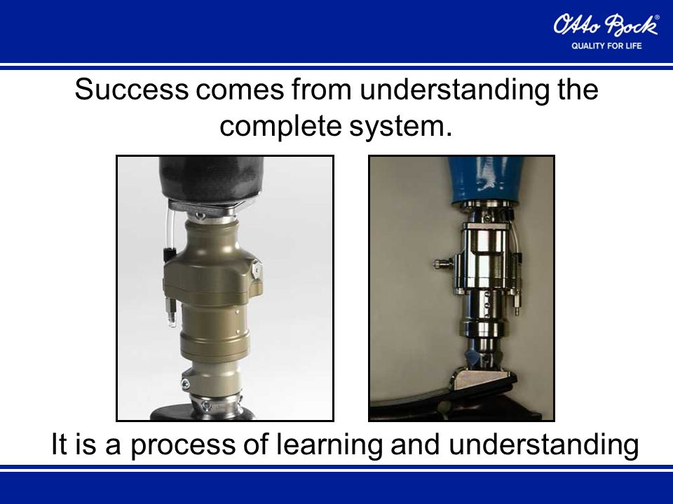 Success comes from understanding the complete system. It is a process of learning and understanding