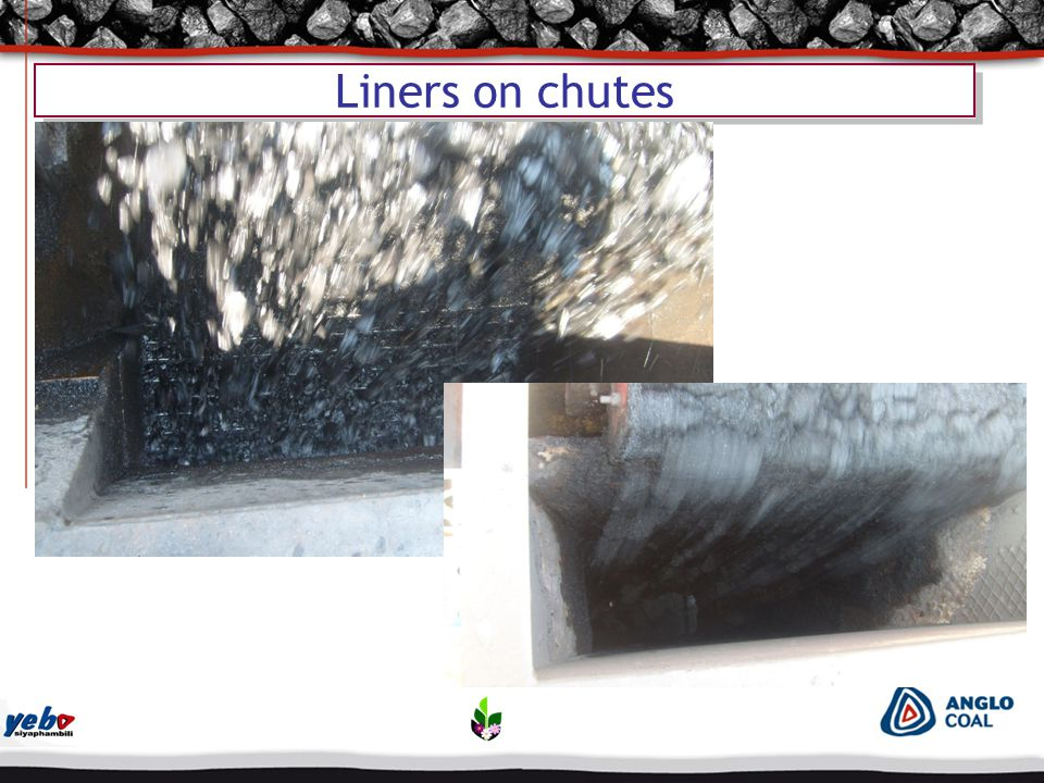 Liners on chutes