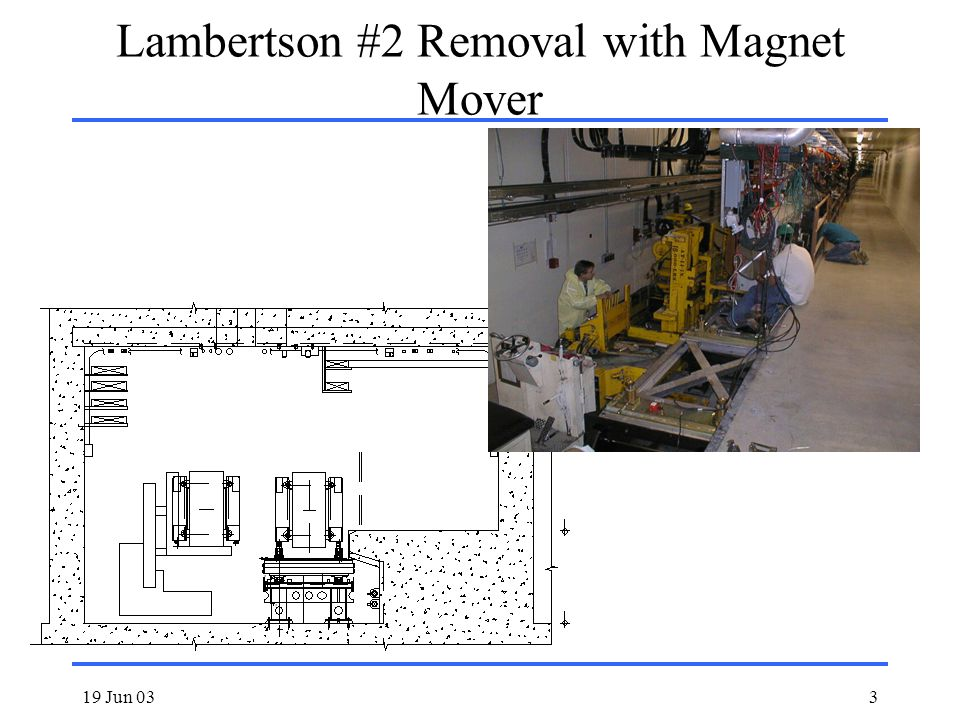 19 Jun 033 Lambertson #2 Removal with Magnet Mover