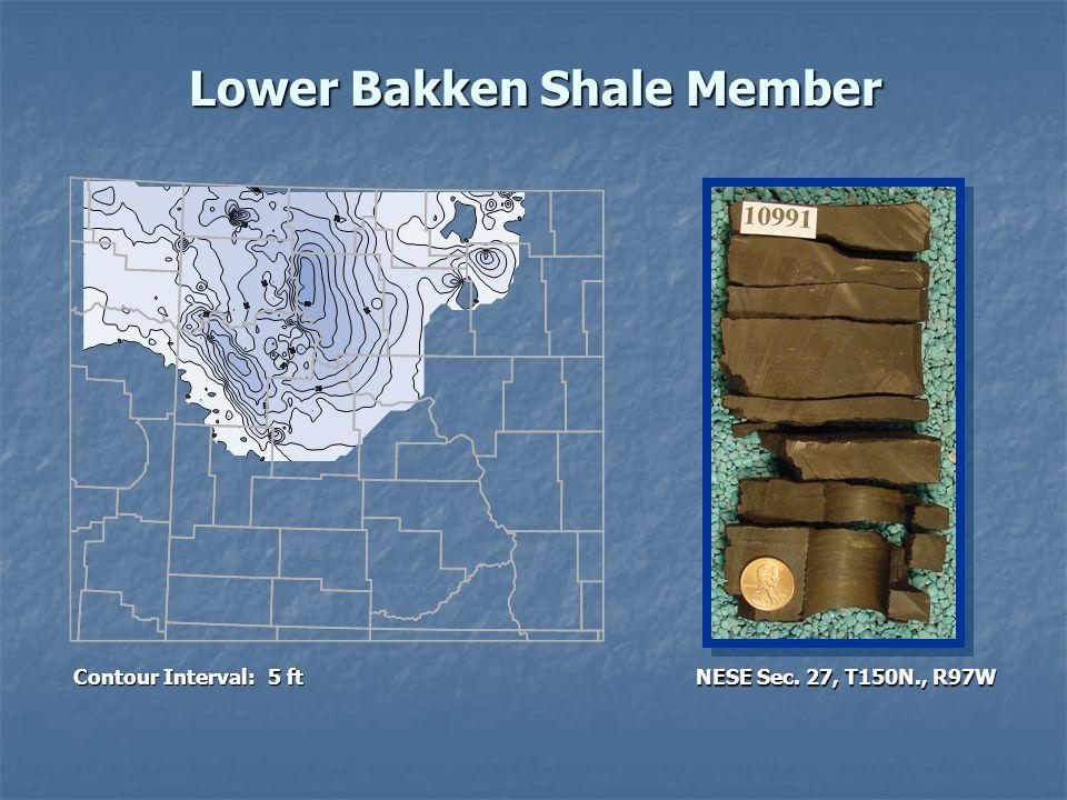 Lower Bakken Shale Member Contour Interval: 5 ft NESE Sec. 27, T150N., R97W