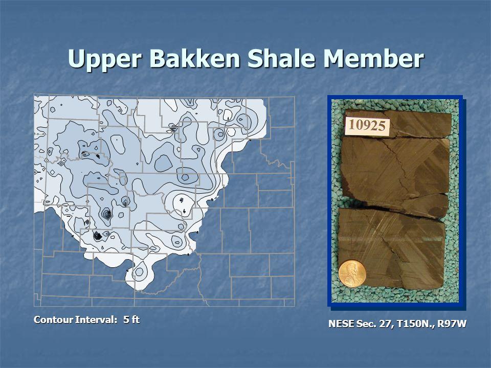 Upper Bakken Shale Member Contour Interval: 5 ft NESE Sec. 27, T150N., R97W