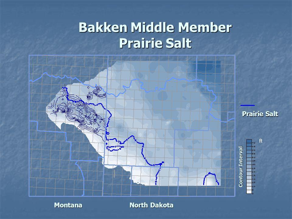 Prairie Salt Bakken Middle Member Prairie Salt Montana NorthDakota North Dakota Contour Interval ft