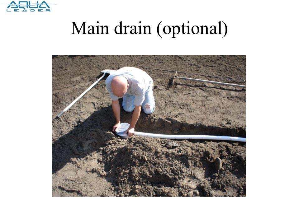 Main drain (optional)