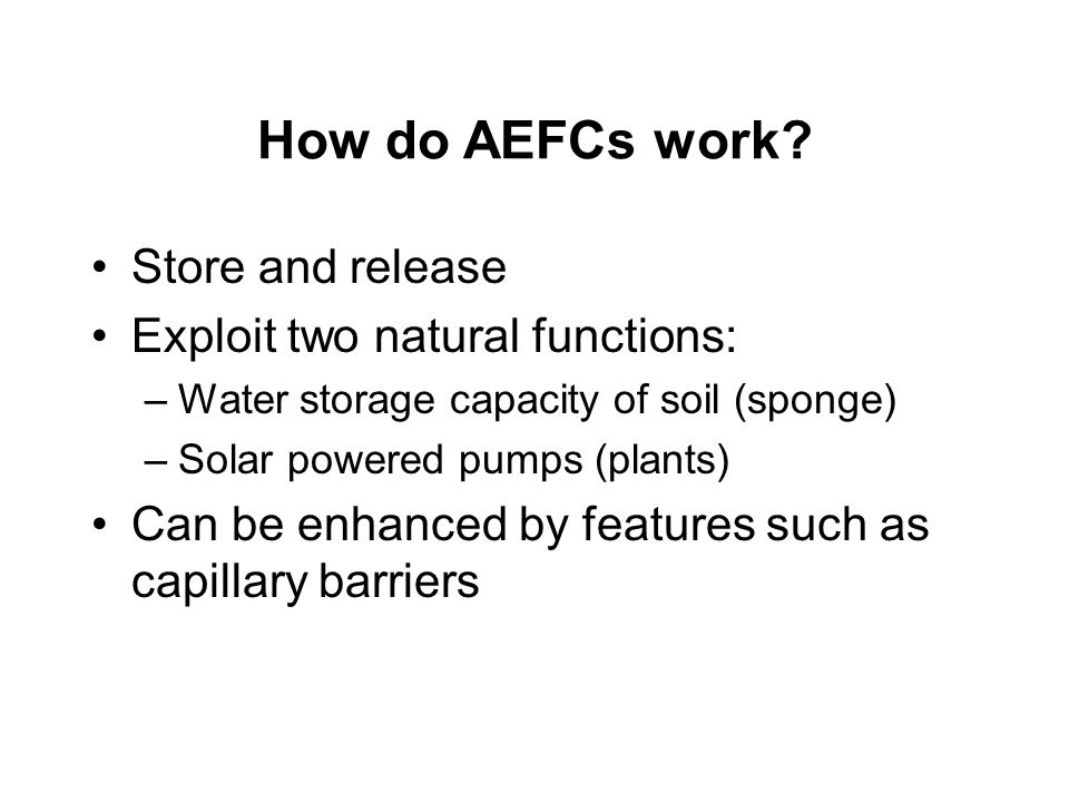 How do AEFCs work.