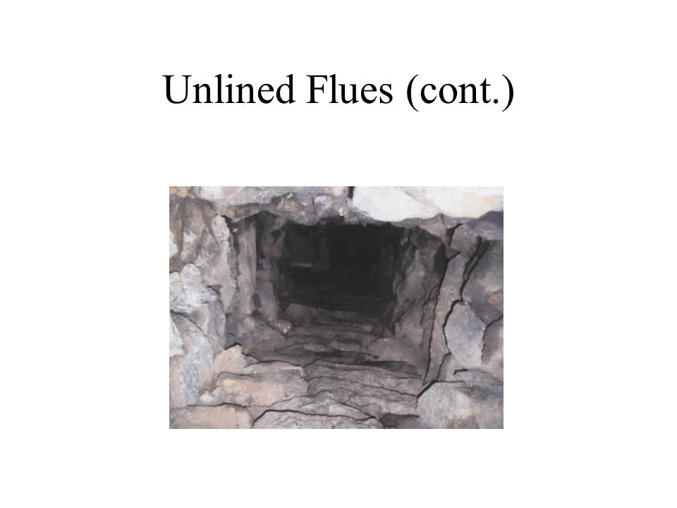 Unlined Flues (cont.)