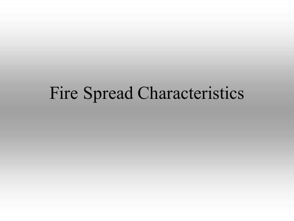 Fire Spread Characteristics