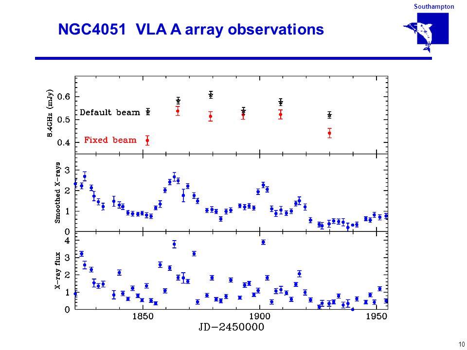 Southampton 10 NGC4051 VLA A array observations
