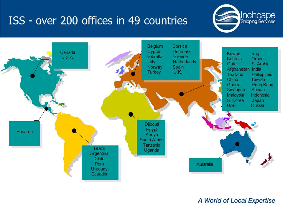 ISS - over 200 offices in 49 countries Canada U.S.A.