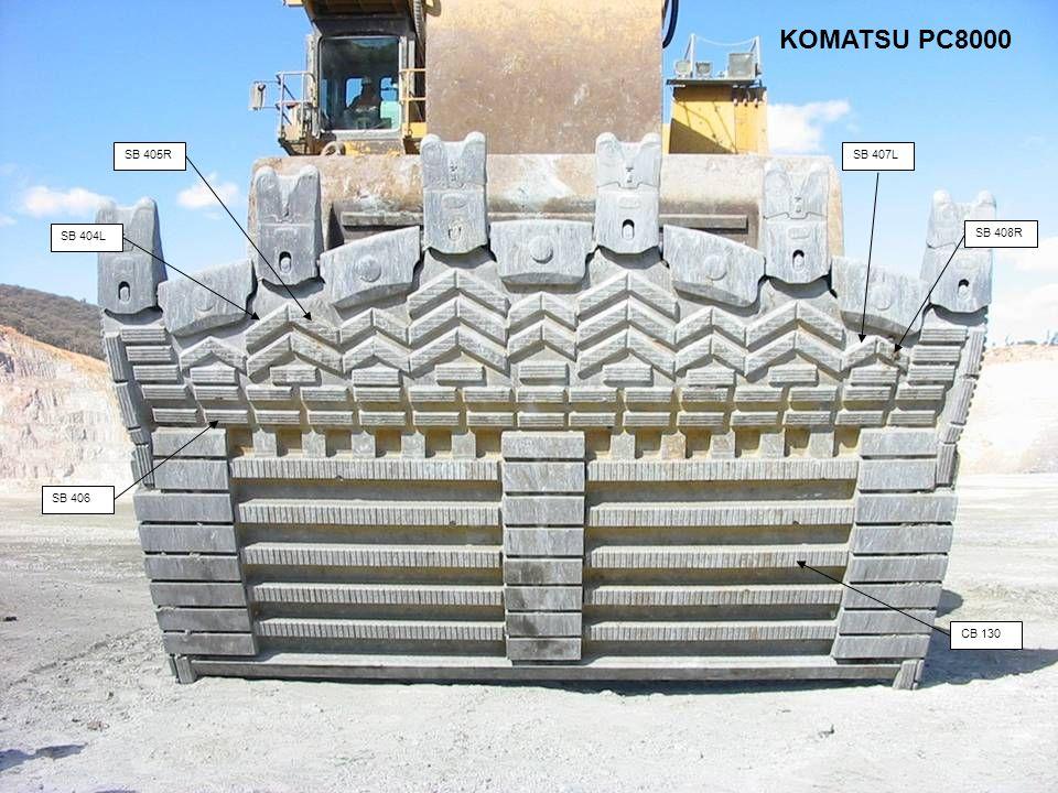 SB 404L CB 130 SB 405RSB 407L SB 406 SB 408R KOMATSU PC8000