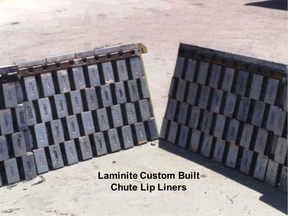 Laminite Custom Built Chute Lip Liners