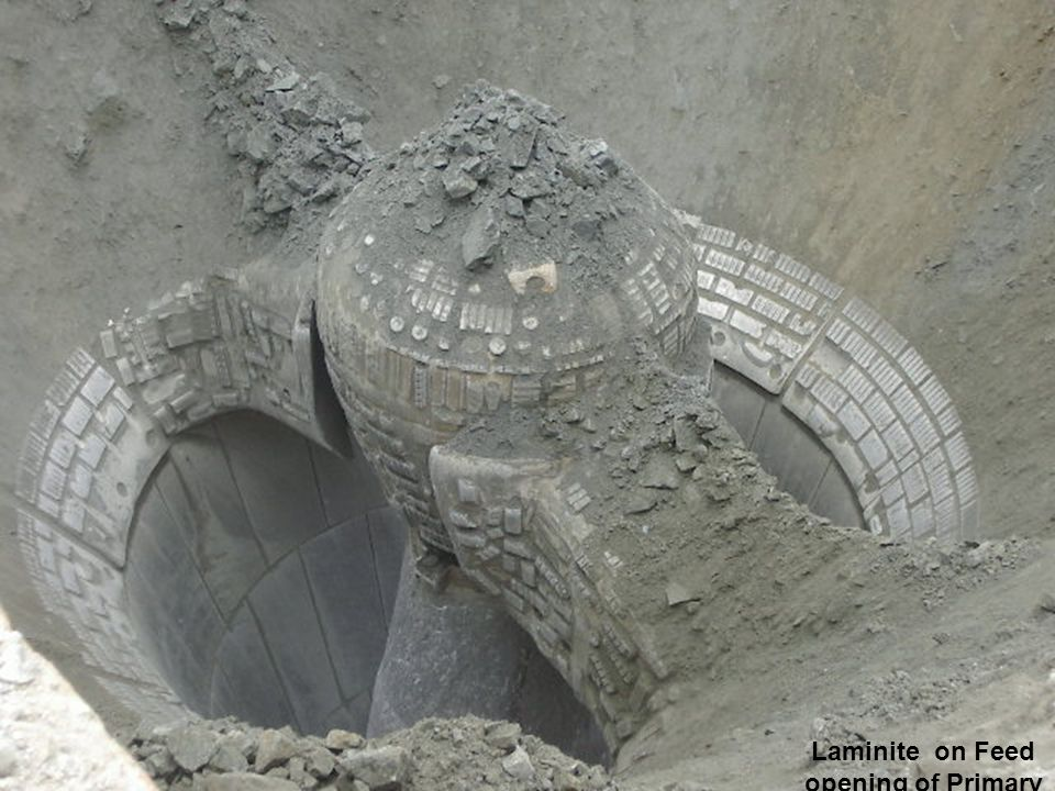 Laminite on Feed opening of Primary Gyratory Crusher Crusher Protection for Spider Arms, Centre Hub, and Rim