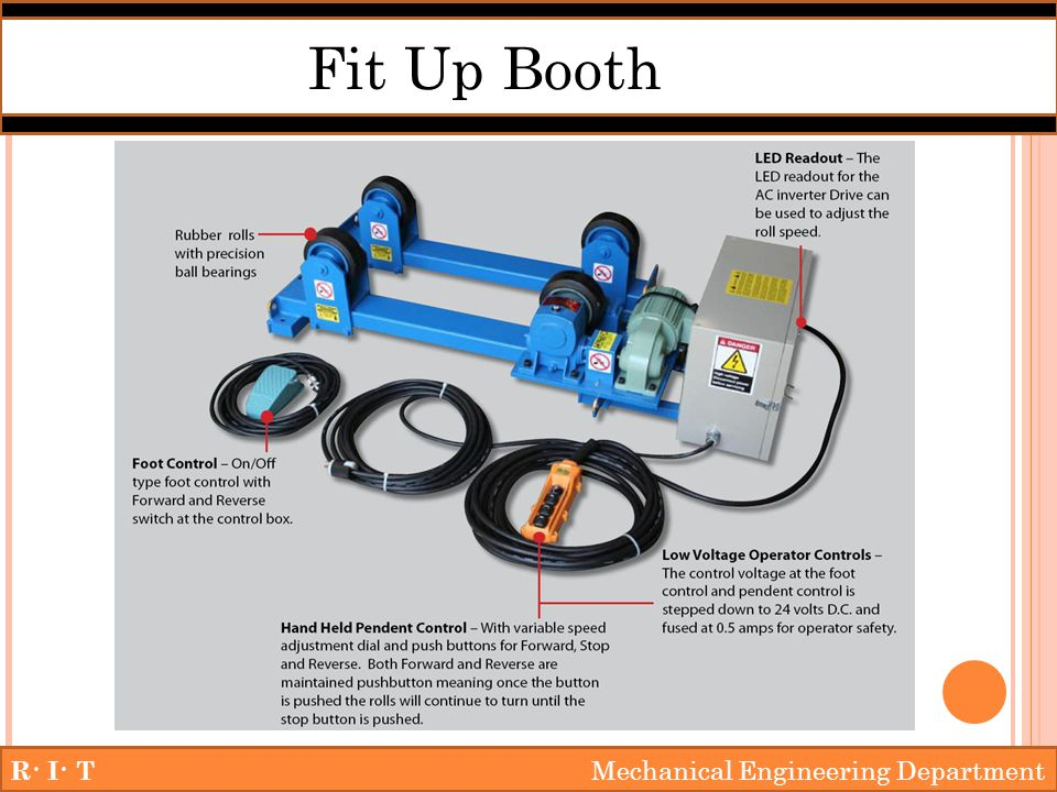 R· I· T Mechanical Engineering Department Fit Up Booth