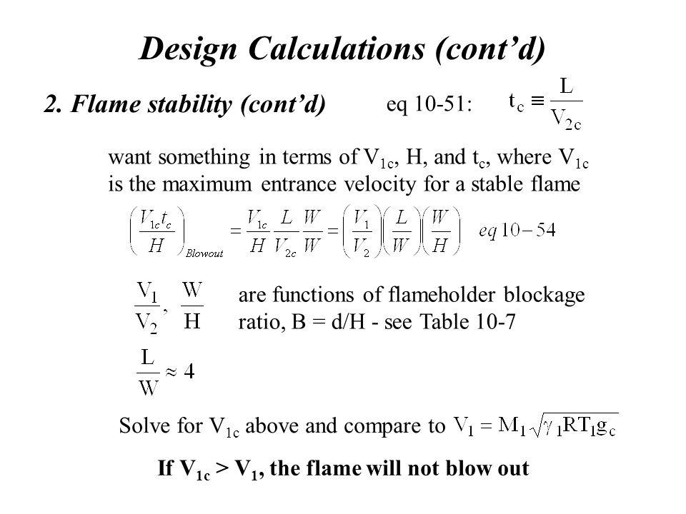 Design Calculations (cont'd) 2.