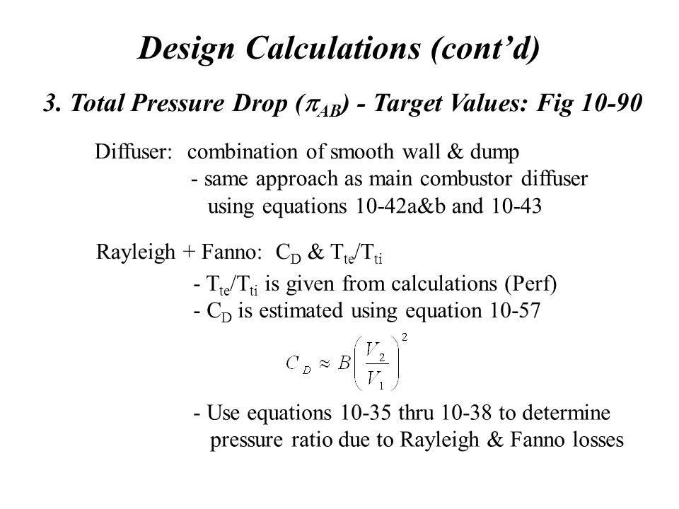 Design Calculations (cont'd) 3.