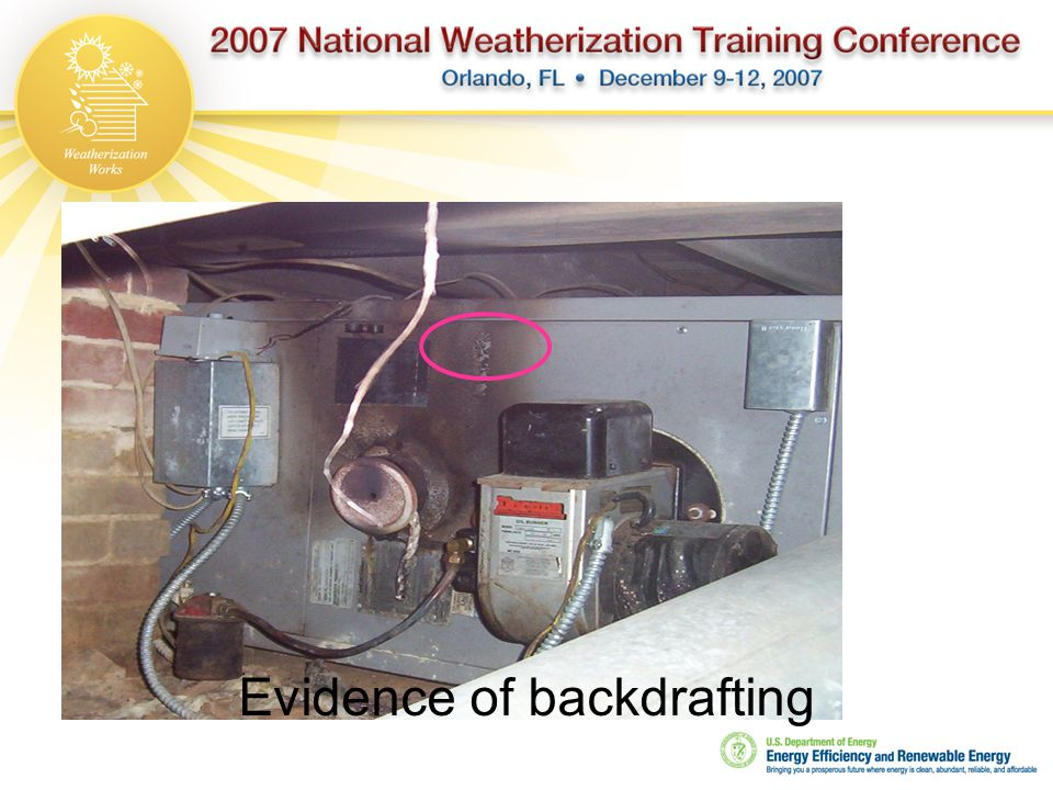 Evidence of backdrafting