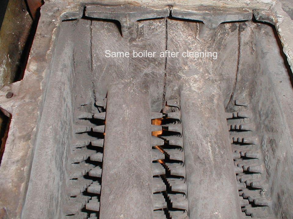 Same boiler after cleaning